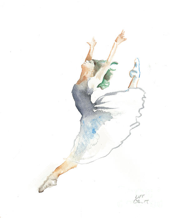 Ballet Painting - Lift by Cher Clemans