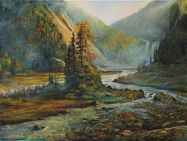 Landscape Painting - Light After The Storm by Craig shanti Mackinnon