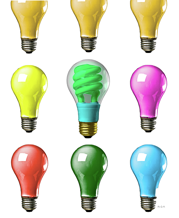 Business Photograph - Light Bulbs Of A Different Color by Bob Orsillo