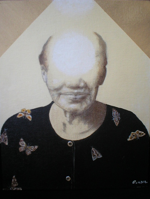 Surreal Painting - Light Face by Jimmy  Ovadia