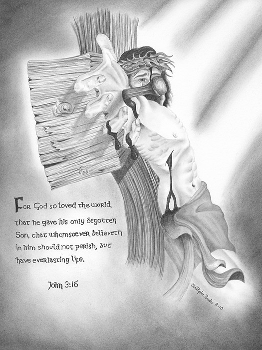 Hand Drawn Drawing - Light Of Salvation by Christopher Brooks