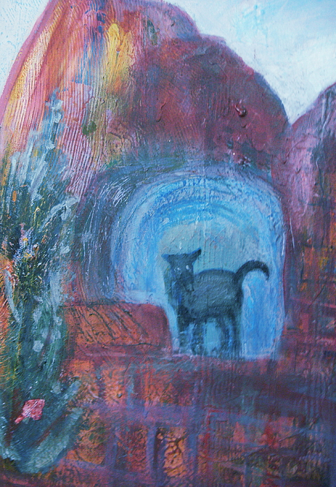Animal Painting - Lighted Cave by Anne-Elizabeth Whiteway