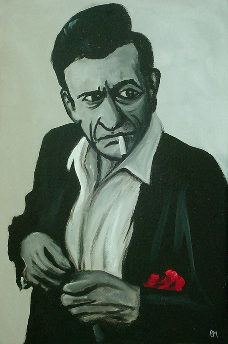 Johnny Cash Painting - Lighten Up by Pete Maier
