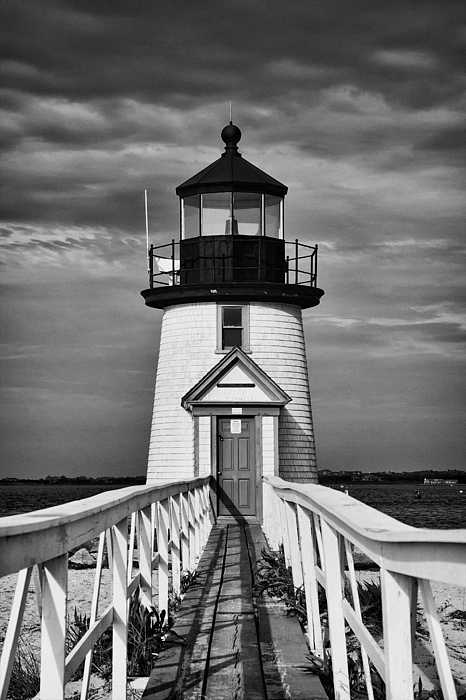 Lighthouse At Nantucket Island II - Black And White ...