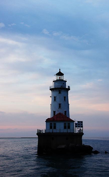 Ocean Photograph - Lighthouse by Evia Nugrahani Koos