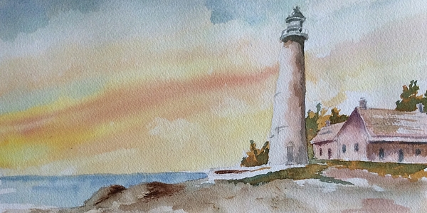 Lighthouse Painting - Lighthouse by Jim Stovall