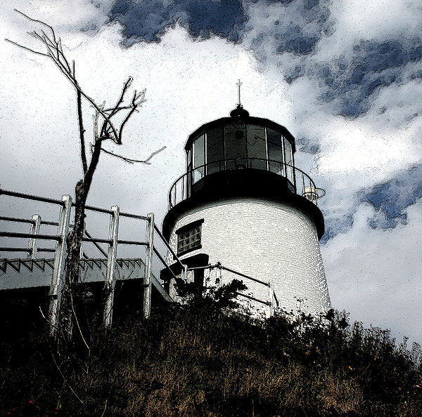 Lighthouse Photograph - Lighthouse With Twist by Dennis Curry