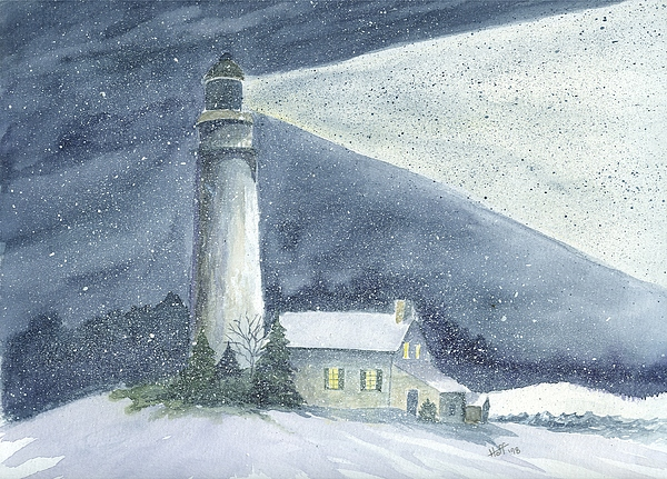 Night Painting - Lighting The Way by Denise   Hoff
