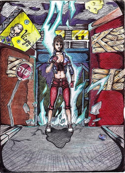 Character Drawing - Lightnig Evolved by Terrelle Jordan