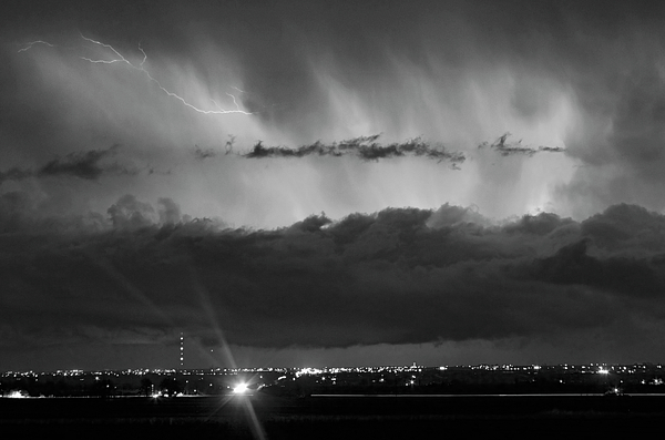 Cloudburst Photograph - Lightning Cloud Burst Black And White by James BO  Insogna