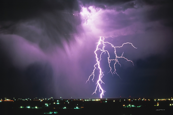 Lightning Storm Photograph By Leland D Howard