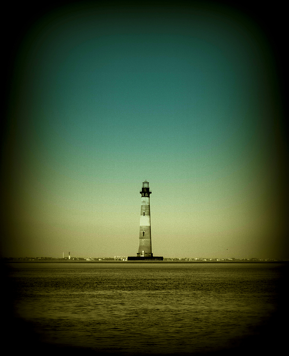 Lighthouse Photograph - Ligthhouse At Morris Island Sc by Susanne Van Hulst