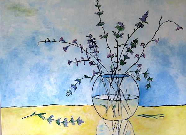 Original Painting - Lilac And Sage by Debi McSwain