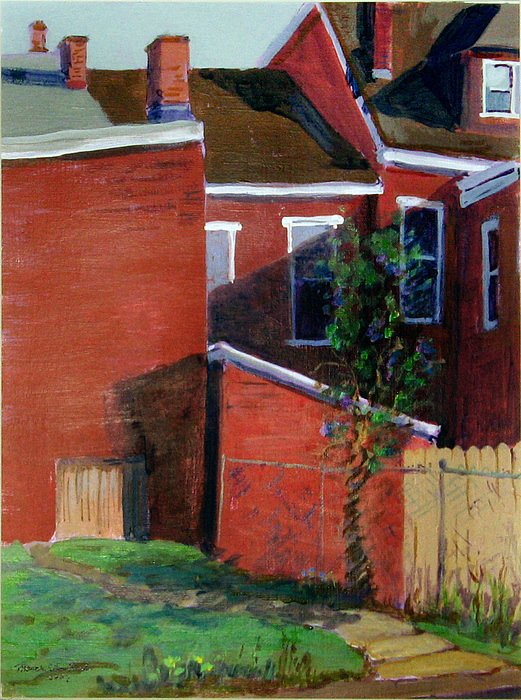 City Scape Painting - Lilac Bush On Dresden Way by Martha Ressler