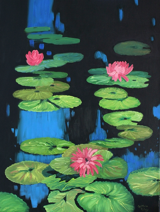 Lilly Pond Painting - Lilly Pond by Cynthia Riley