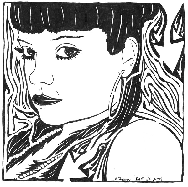 Lily Allen Painting - Lily Allen Maze by Yonatan Frimer Maze Artist