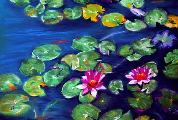 Lily Pads Pastel - Lily Pads by Jennifer Garber