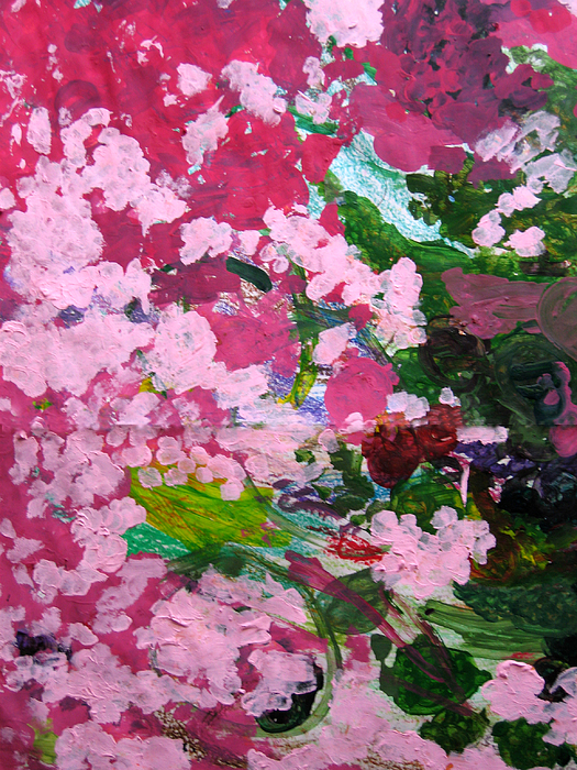 Abstract Painting - Lily Pads by Kim Putney