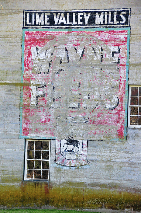 Sign Photograph - Lime Valley Mills by David Arment