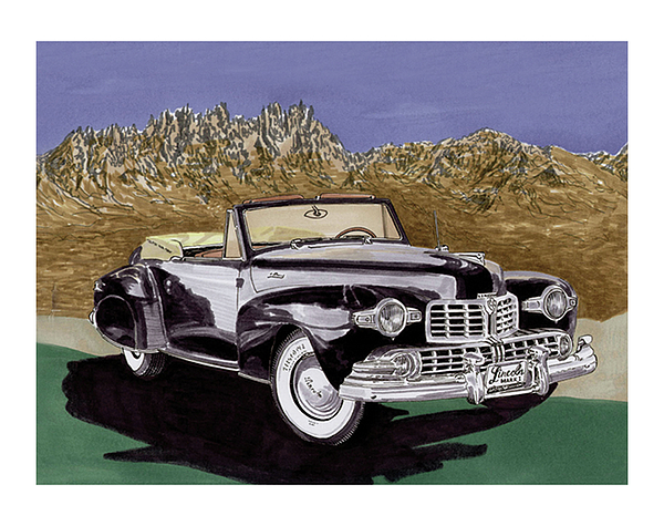 Lincoln Continental Mk I Painting by Jack Pumphrey