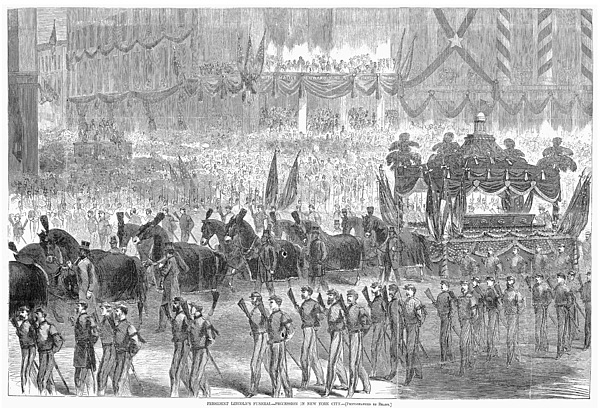 1865 Photograph - Lincolns Funeral, 1865 by Granger