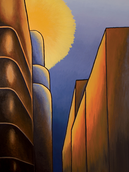 Cityscape Painting - Lines And Curves by Duane Gordon