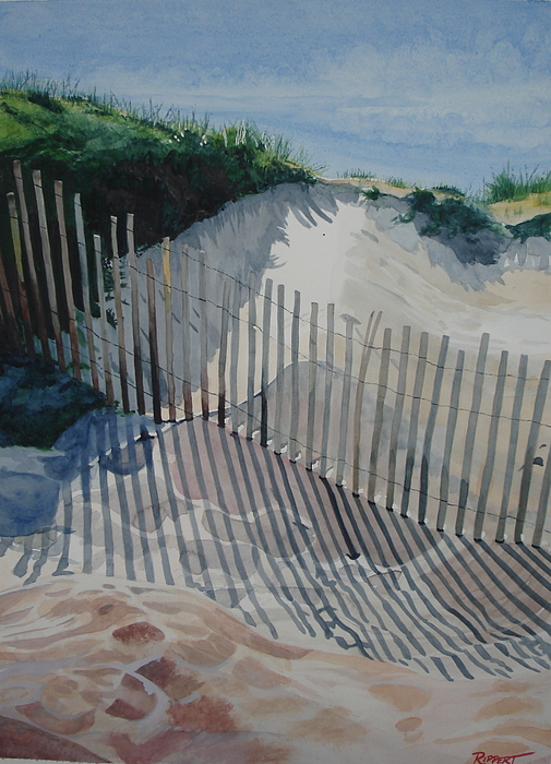 Seascape Painting - Lines In The Sand by Heather Rippert