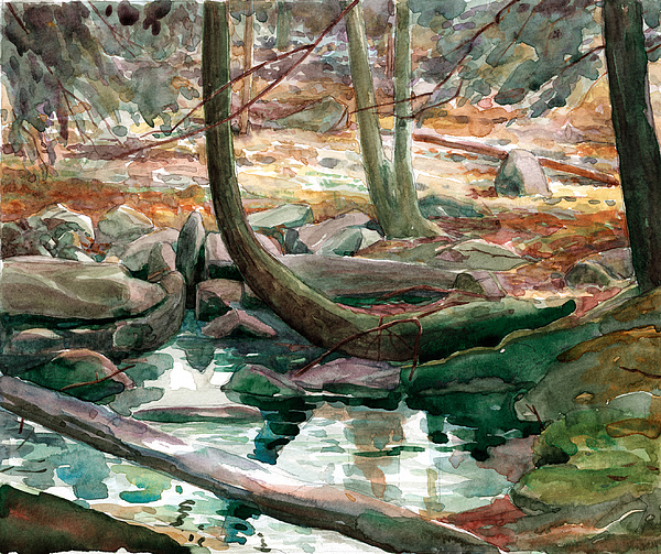 Central Pennsylvania Painting - Lingle Stream by Jeff Mathison