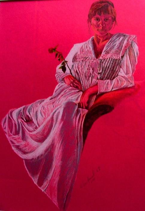 Portrait Drawing - Lisa by Dan Hausel