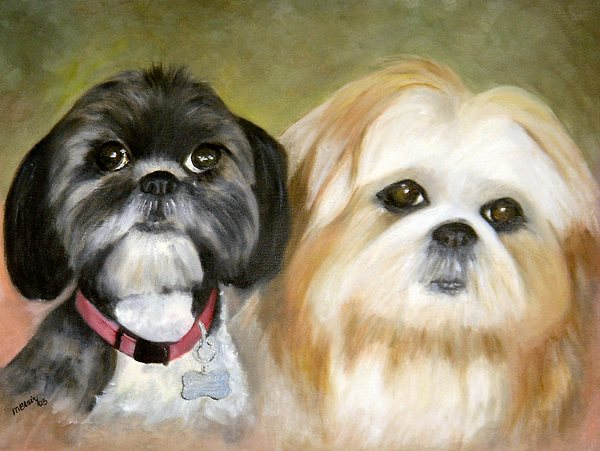 Pets Painting - Little Angels by Merle Blair