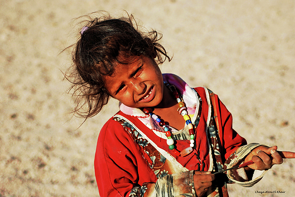 Girl Photograph - Little Bedouin Girl by Chaza Abou El Khair