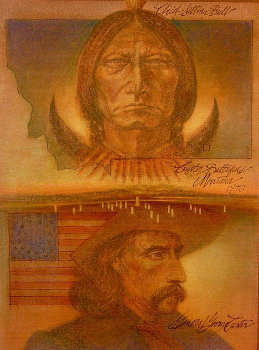 Battle Painting - Little Big Horn Battle by Gary Kaemmer