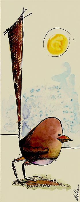 Bird Mixed Media - Little Bird Card by Studio De Shan