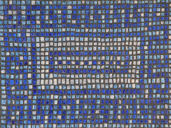 Blue Painting - Little Blue Tiles by Tracy Fetter
