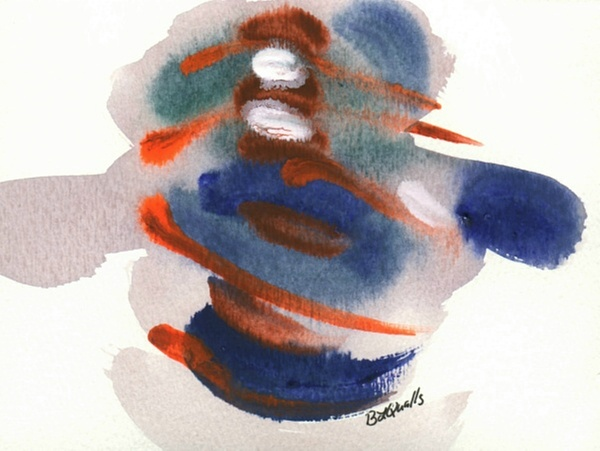 Watercolor Painting - Little Gem - Group 4 - Painting 7 by B L Qualls