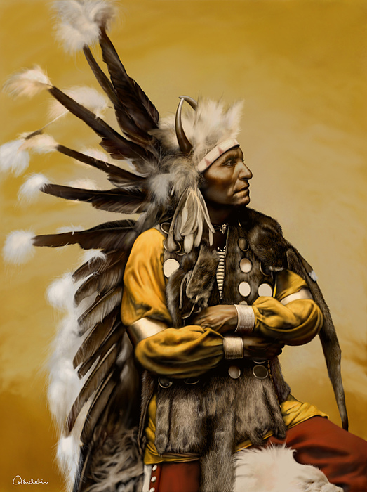 Native American Digital Art - Little Horse - Sioux by Helmut Weininger