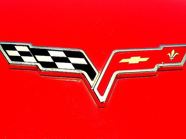Emblem Photograph - Little Red Corvette by Kevin D Davis