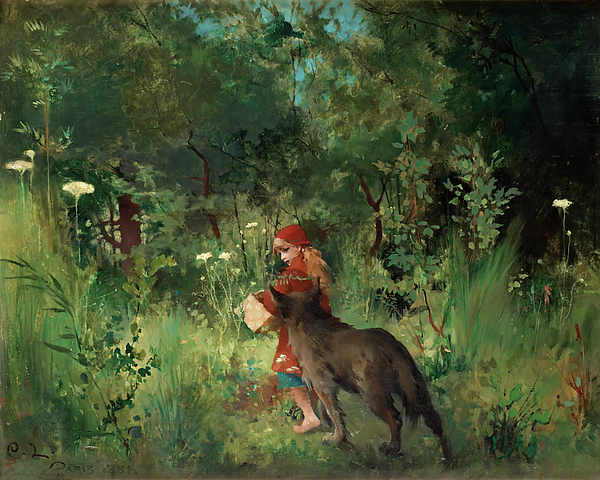 Painting Painting - Little Red Riding Hood by Mountain Dreams