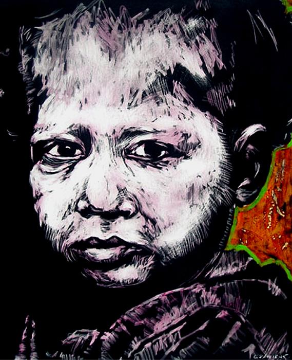 Little Rosita Mixed Media by Chester Elmore