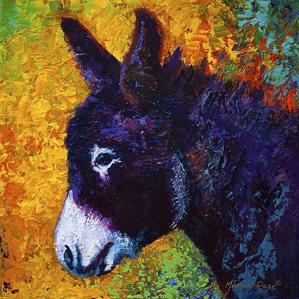 Donkey Painting - Little Sparky by Marion Rose