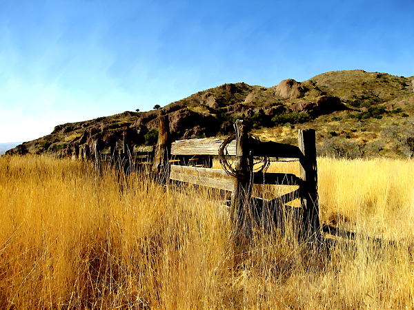Southwestern Photograph - Livery Fence At Dripping Springs by Kurt Van Wagner
