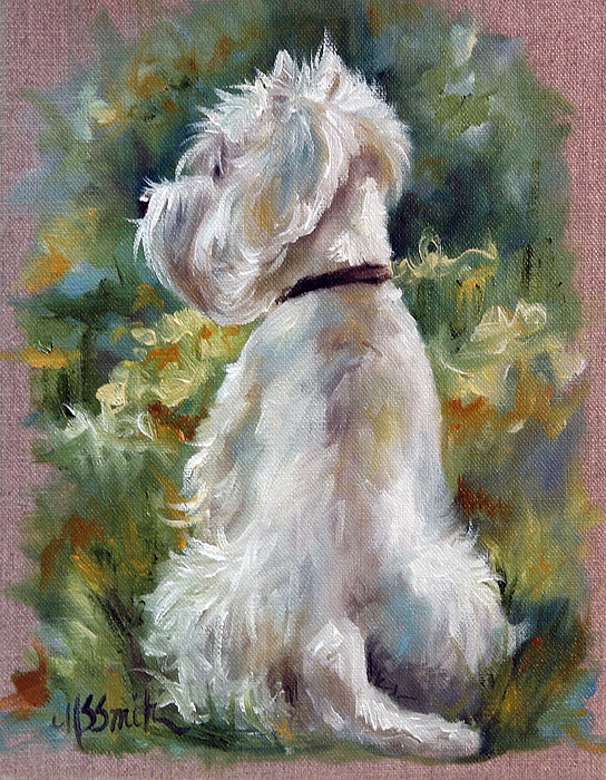 Westie Painting - Living Color by Mary Sparrow