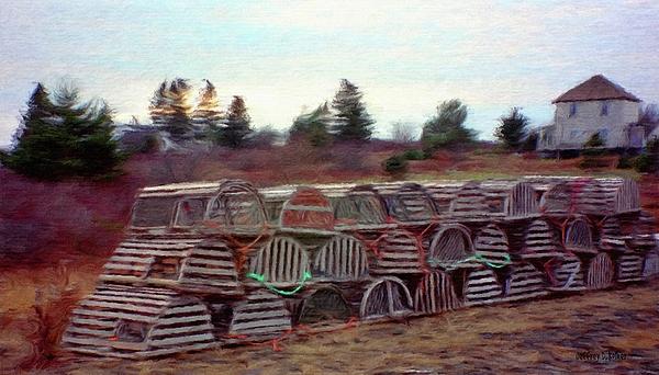 Nova Scotia Painting - Lobster Traps by Jeffrey Kolker