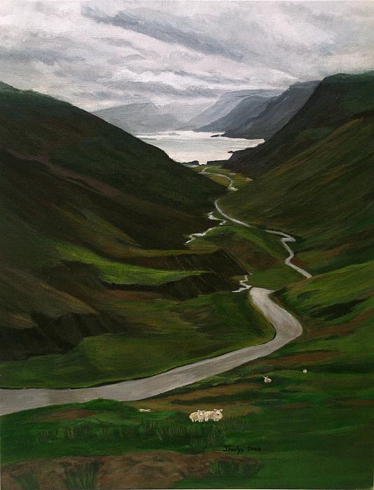 Landscape Painting - Loch Assynt by Jesslyn Fraser