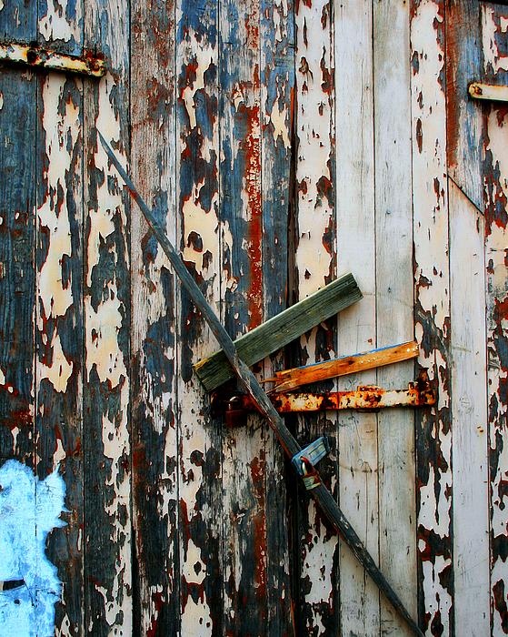Door Photograph - Locked Door by Perry Webster