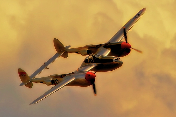 Airplane Photograph - Lockheed P-38 Lightning 2011 Chino Air Show by Gus McCrea