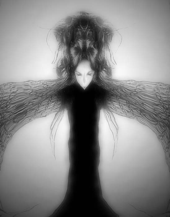 Gothic Digital Art - Locust Girl by Heather King