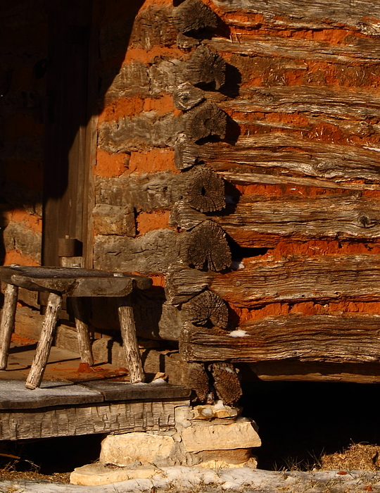 Building Photograph - Log Cabin by Robert Frederick