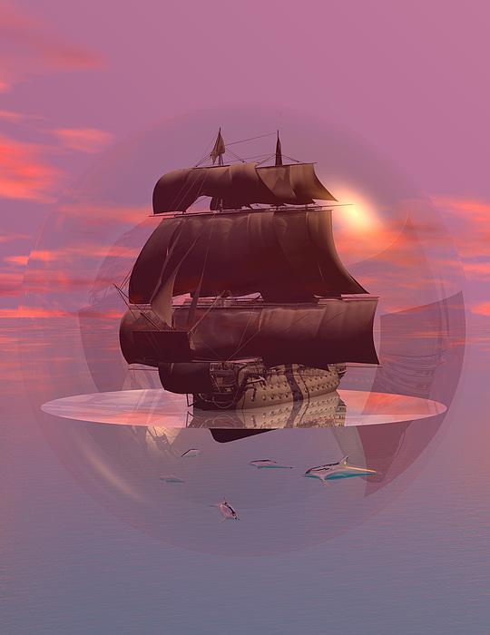 Bryce Digital Art - Log Wind Sse 5mph Seas Calm by Claude McCoy