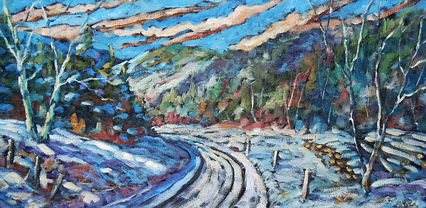Loggers Painting - Loggers Road  by Richard T Pranke
